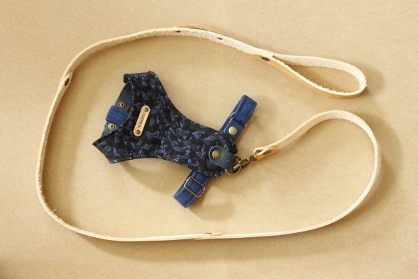 Harnais et sa laisse, possibilité de moduler plusieurs accessoires