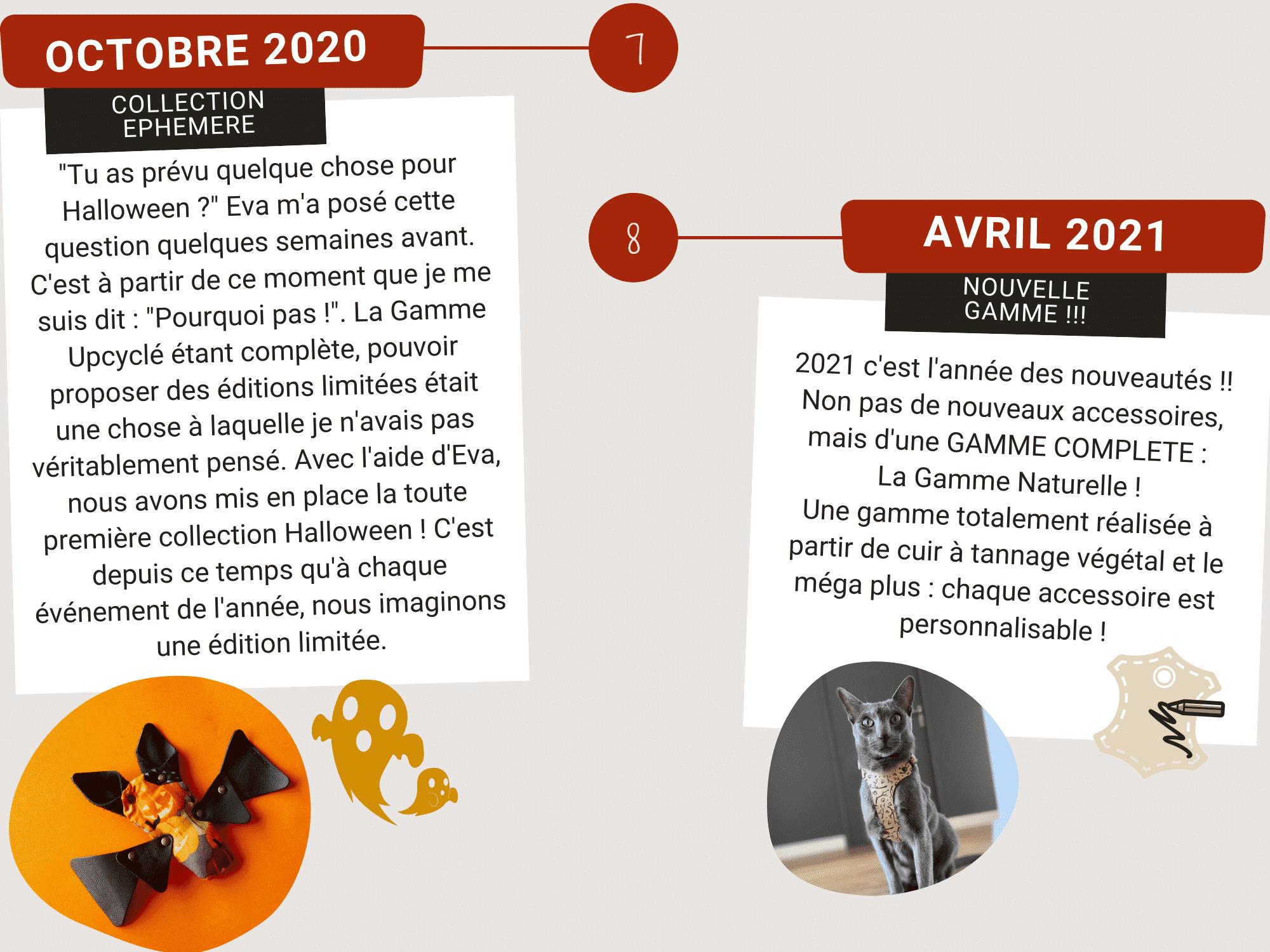Nominoo en Octobre 2020 et avril 2021. Collection ephemere et nouvelle gamme.